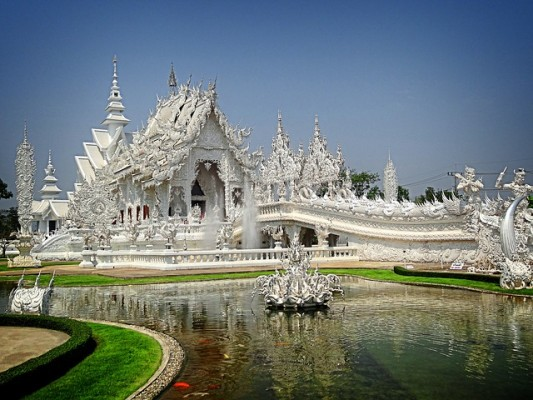 Wat Rong Khun ou Temple blanc à Chiang Rai
