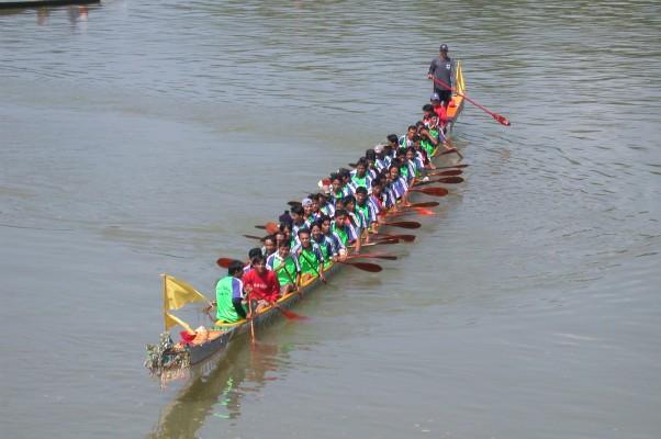 Les courses de bateaux sur le Mékong