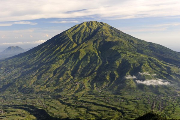 Le volcan Mérapi, Java Est