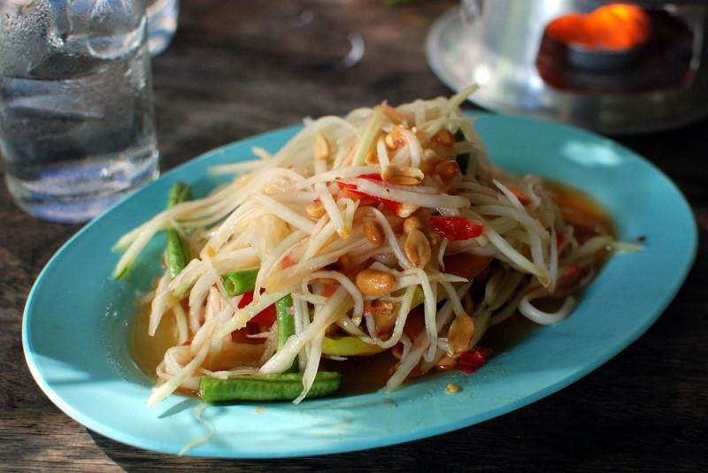 3. Som Tam : salade de papaye verte pimentée