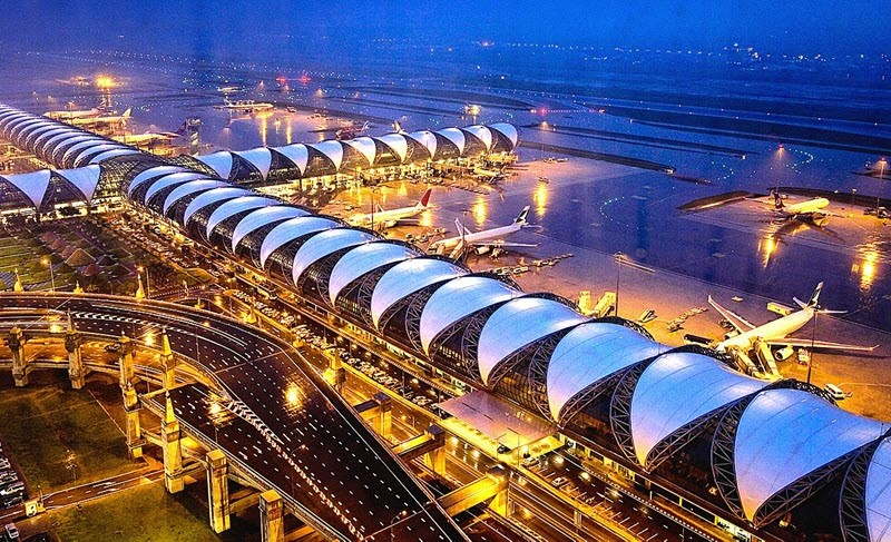 L'aéroport international Suvarnabhumi, Thaïlande