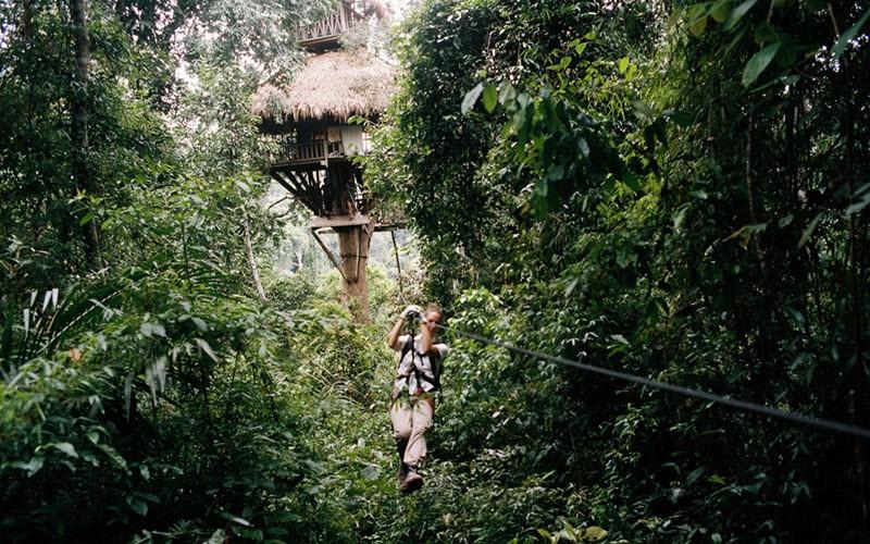 5. Faire de la tyrolienne à Bokeo, « The Gibbon Experience »