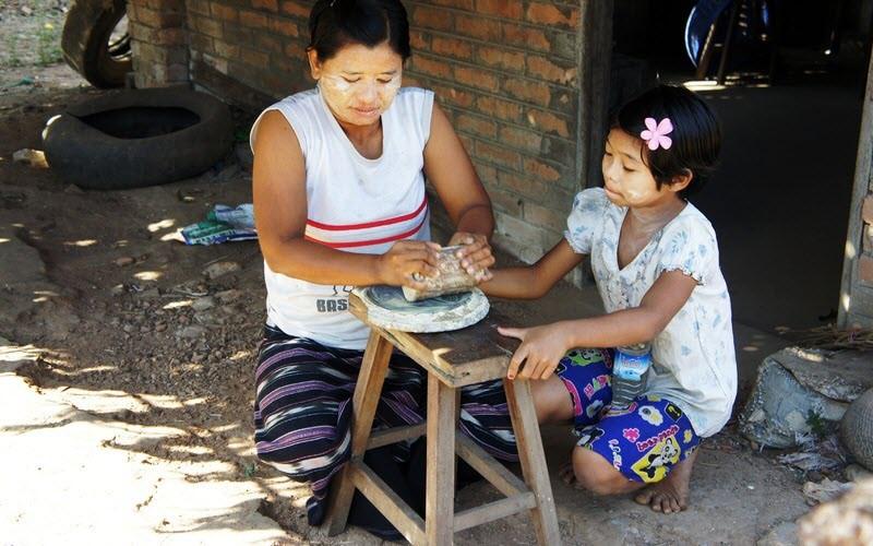 Fabrication de la poudre de thanaka