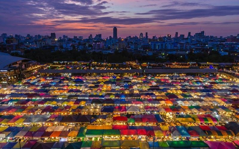 Le marché de nuit de Ratchada