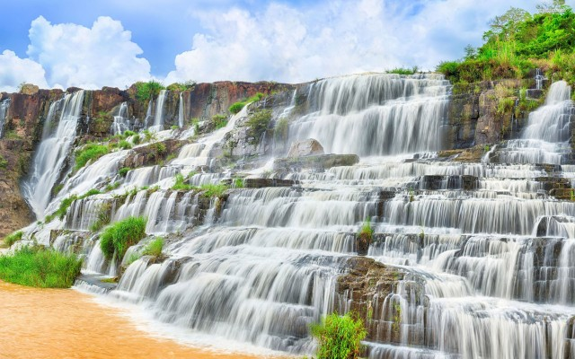 La cascade de Pongour au Vietnam