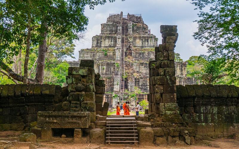 Koh Ker et le temple original Prasat Thom