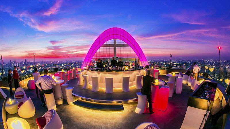 Le Red Sky rooftop bar
