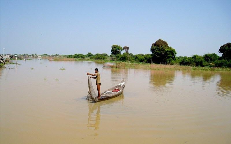 L'inversion du sens de la rivière Tonlé Sap