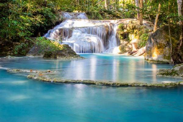 Les chutes d'eau et cascades d'Erawan en Thaïlande