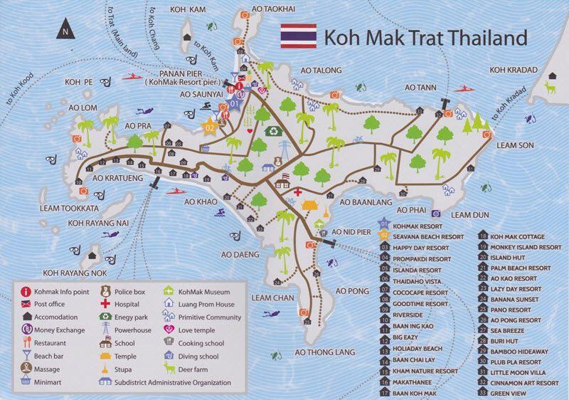 carte de Koh Mak