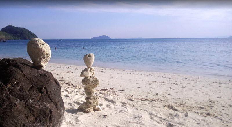 plage de sable blanc à koh mak