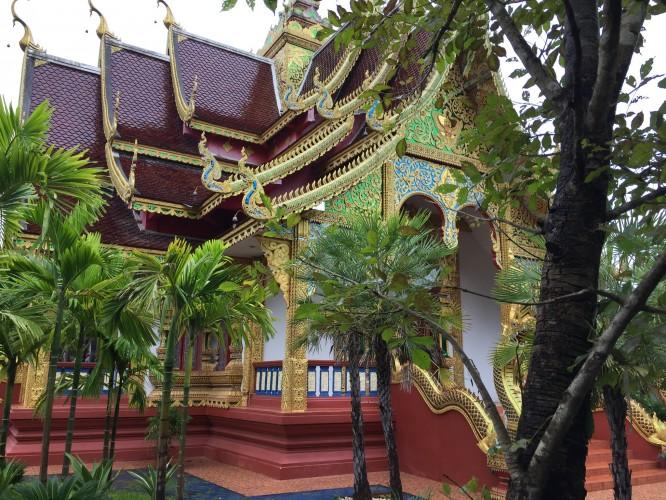 Temple au detour de notre balade à vélo  Chiang Mai