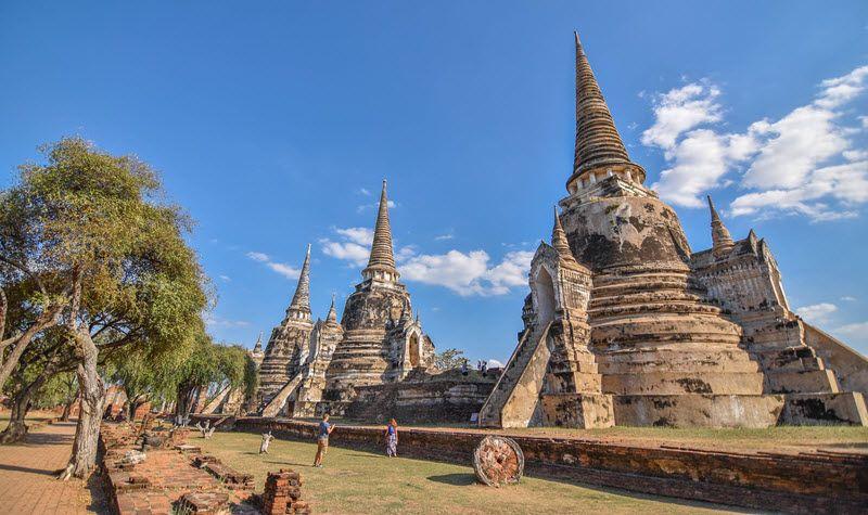 Le temple Wat Phra Si Sanphet à Ayutthaya en Thaïlande